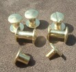 """Extra Pair Chicago Screws for Dog Collar 1/4"""" Inch"""