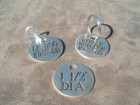 Engraved Large Round Dog Tag