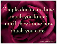 """People don't care how much you know..."" Magnet"