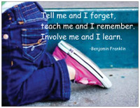 """""""Teach me and I Forget"""" Magnet"""