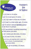 """Toddlers Bill of Rights"" Poster"