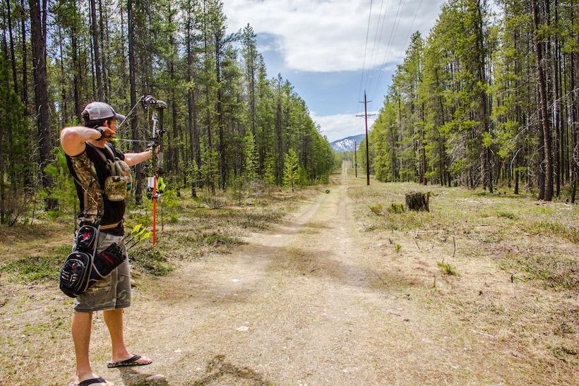 How far can a bow and arrow shoot?
