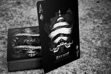 Black Arcane playing cards