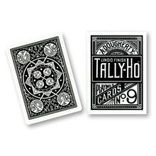 Black Tally-Ho Fan Back Playing Cards