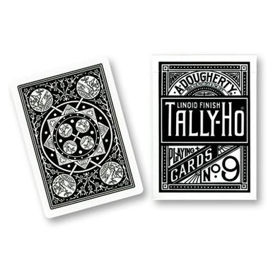 Black Tally-Ho Fan Back Playing Cards