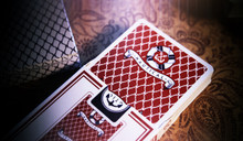 Red Nautical Playing Cards by The Blue Crown