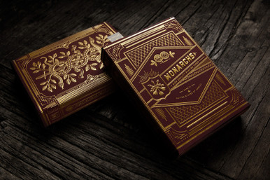 Red Monarchs Playing Cards