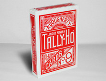 Red Tally Ho Fan Back Playing cards