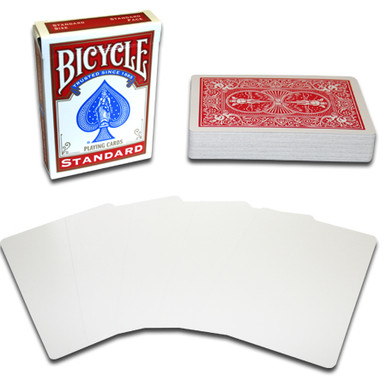 Blank Face Bicycle playing cards. Available in Red Back and Blue Back design.