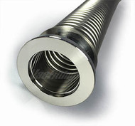 "NW 25 x 39.4"" (1000mm) Thin Wall (.006) Stainless Steel Metal Hose"
