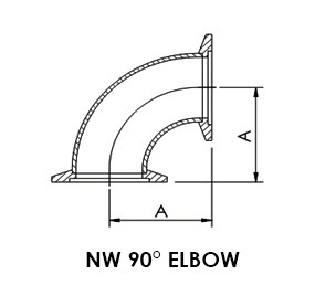 """NW 16 90° Elbow (1.15"""")"""