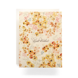 Calico Best Wishes Greeting Card