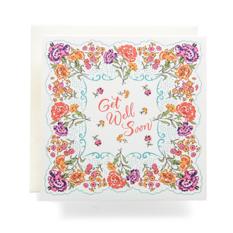 Handkerchief Get Well Soon Greeting Card