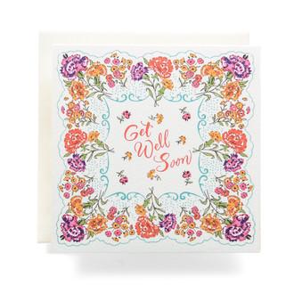 Handkerchief Get Well Soon Greeting Card