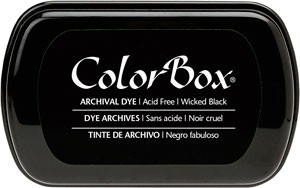 Color Box Stamp Pad, Archival, Wicked Black