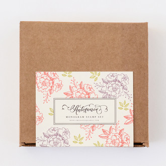 """Camellia"" Monogram Stamp Kit, Set of 3 Stamps"