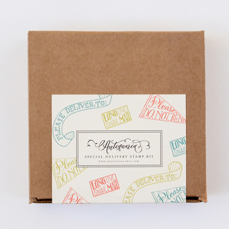 """Special Delivery"" Stamp Kit, Set of 3 Stamps"