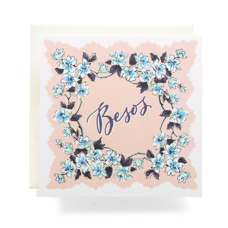 Handkerchief Besos Greeting Card