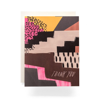Abstract Thank You Greeting Card