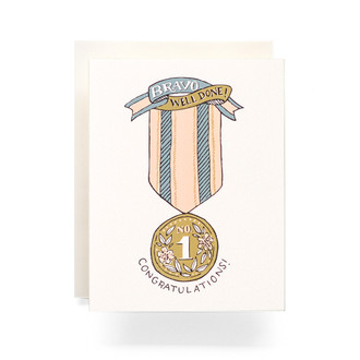 Bravo No.1 Ribbon Greeting Card