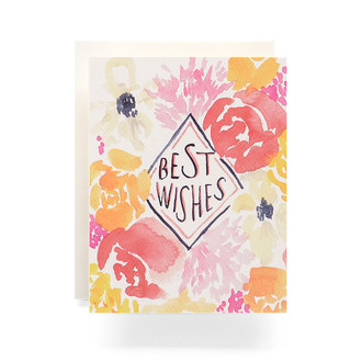 Floral Best Wishes Greeting Card