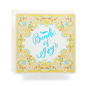 Handkerchief Bundle of Joy Greeting Card