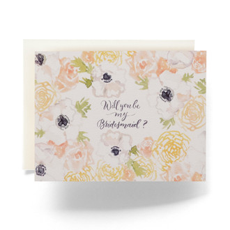 Natalia Bridesmaid Greeting Card