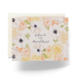 Natalia Maid of Honor Greeting Card