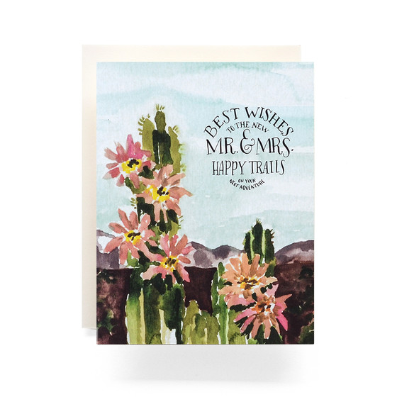 Best Mr And Mrs Questions: Cactus Mr. And Mrs. Greeting Card