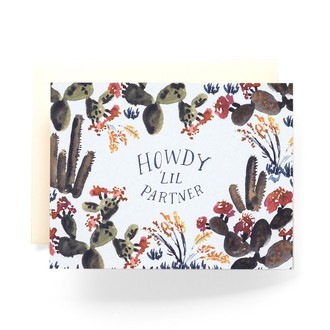 Howdy Lil Partner Greeting Card