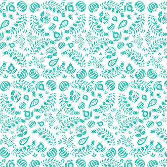 Scandinavian Floral Wrapping Sheet, 20x29