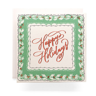 Handkerchief Happy Holidays Greeting Card