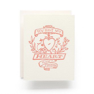 Heart Crest Greeting Card