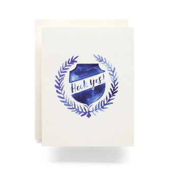 Heck Yes Crest Greeting Card