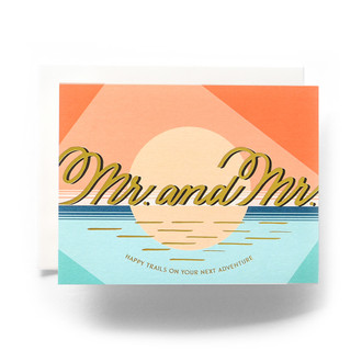 Modern Mr. & Mr. Greeting Card