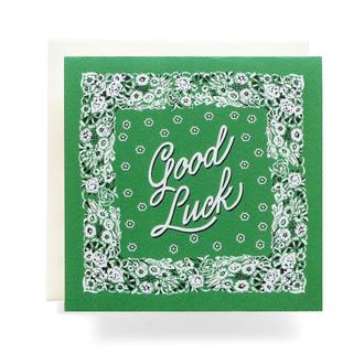 "Bandana ""Good Luck"" Greeting Card"