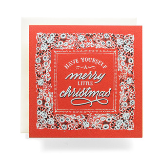 "Bandana ""Merry Christmas"" Greeting Card"