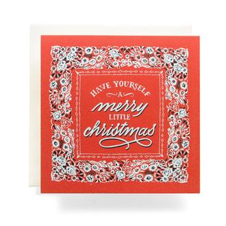"Bandana ""Merry Christmas"" Greeting Card"