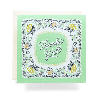 "Bandana ""Thanks Y'all"" Greeting Card"
