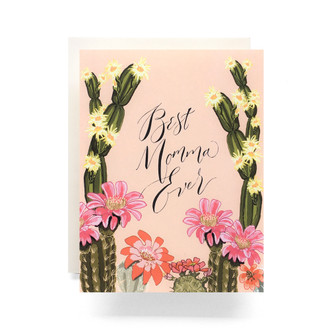 Cactus Bloom Mom Greeting Card
