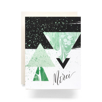 Marble Merci Greeting Card