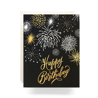 Fireworks Happy Birthday Greeting Card