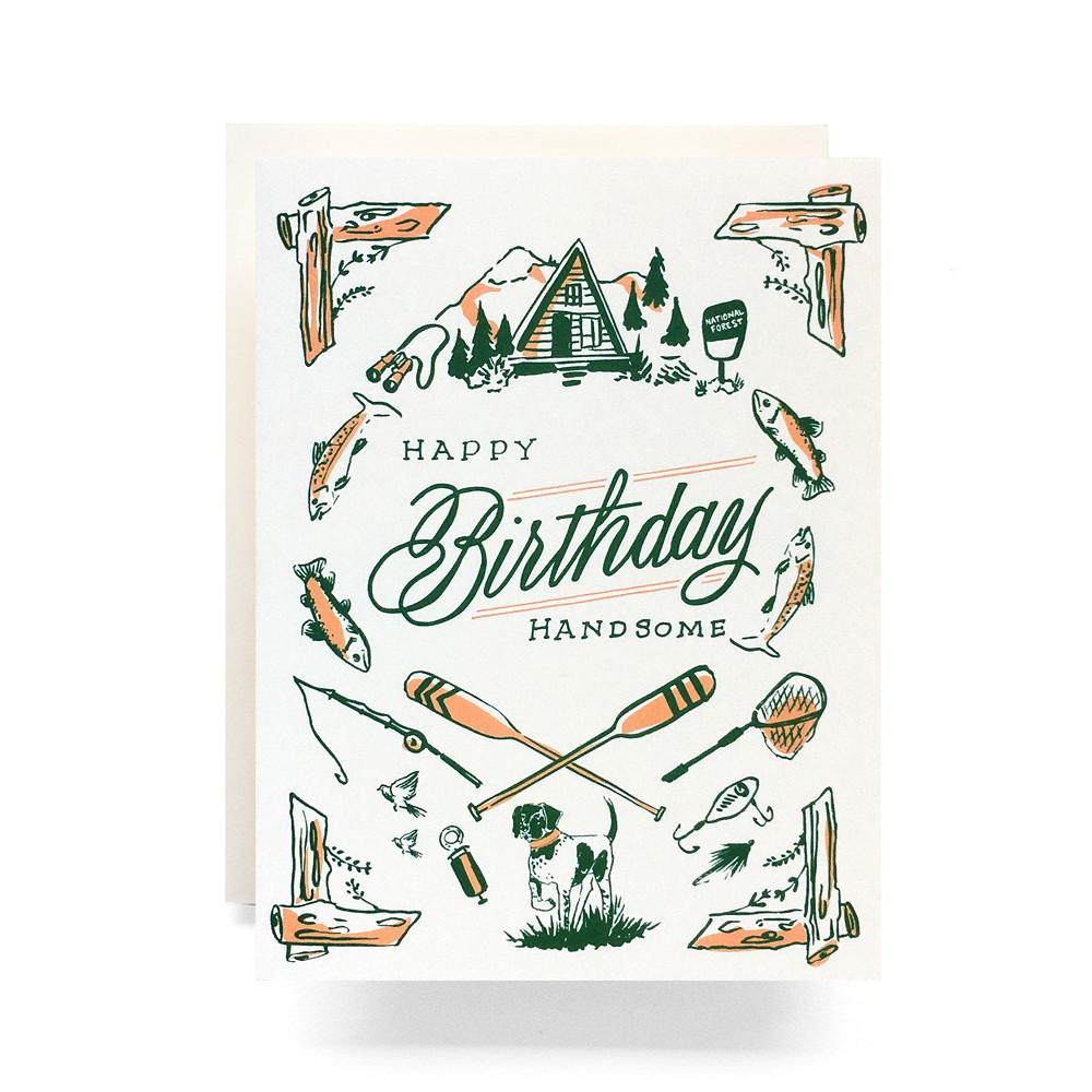 Outdoorsman Birthday Greeting Card Antiquaria