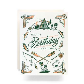 Outdoorsman Birthday Greeting Card