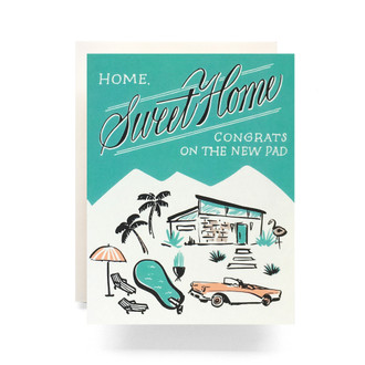 Mid Century Housewarming Greeting Card
