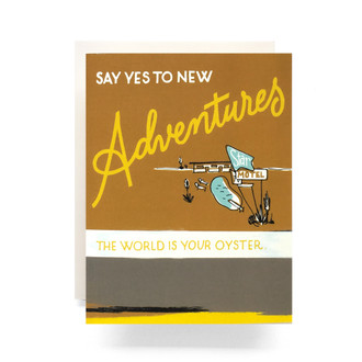 Retro Adventure Greeting Card