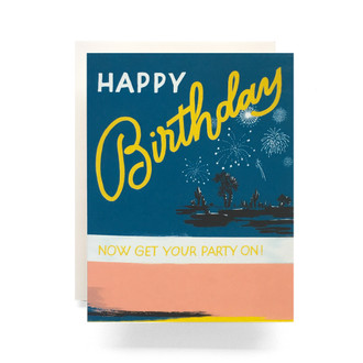 Retro Birthday Party Greeting Card