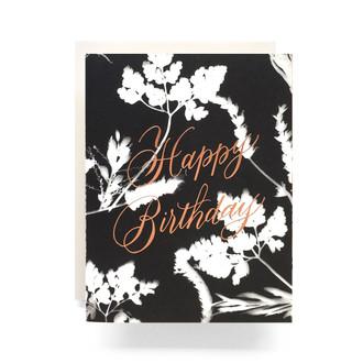 Sunprint Birthday Greeting Card