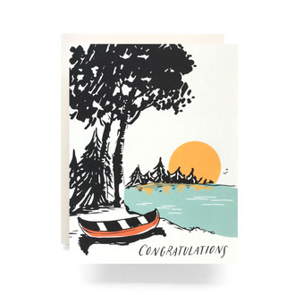 Sunset Congratulations Greeting Card