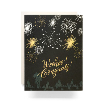 Fireworks Congrats Greeting Card